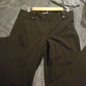 LOFT Dark Brown Stretch Trouser Pants Sz 6
